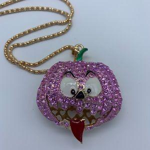 New rhinestone purplegold pumpkin fashion necklace